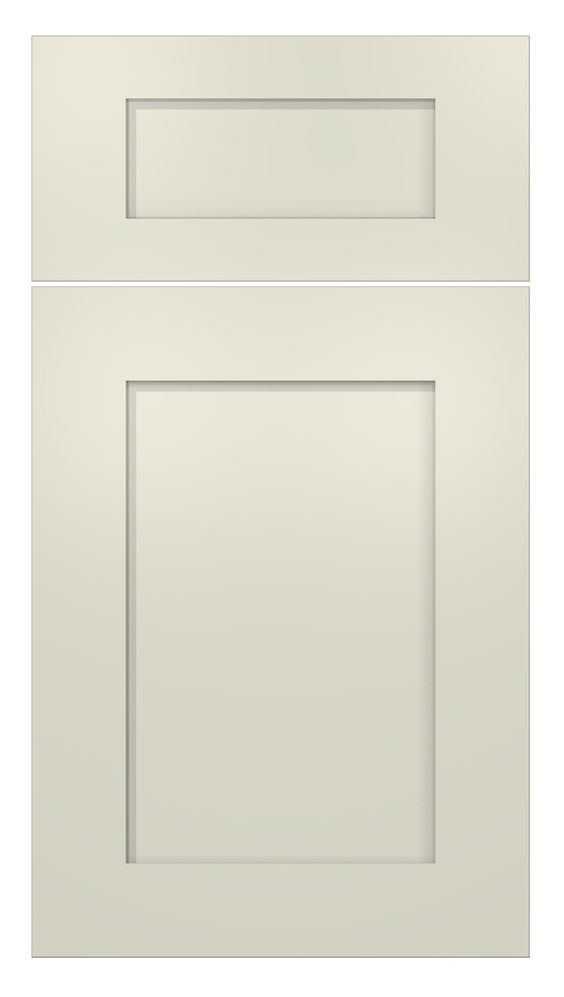 Meridian door style painted antique white kitchen for Meridian cabinets