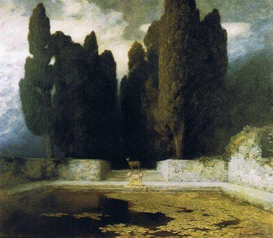 The Pool, 1911 Ferdinand Keller (1843-1922)  #thepool #pool #ferdinandkeller #keller #art #arte #artist #dailyart #painting #paintings…