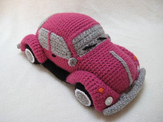 Amigurumi Free Pattern Car : Amigurumi VW Beetle Volkswagen Inspired Bug Car Crochet ...