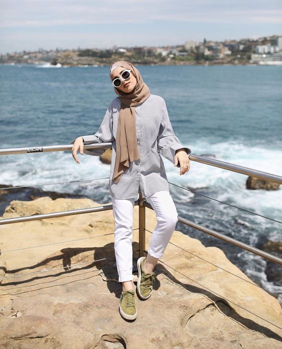 Perfect Ways To Wear Beach Outfit For Hijabis Hijab Casual Beach Outfit Hijab Fashion