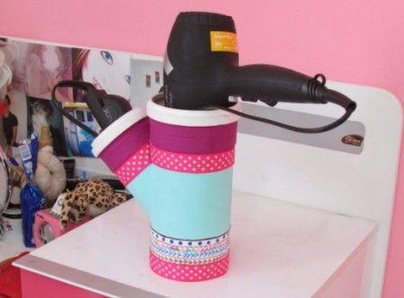 Aprenda a fazer porta secador de cabelo com PVC