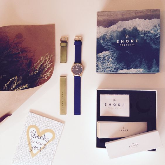 Shore Project watches inspired by the British seaside with interchangeable straps with coastal names like St. Ives. @grovecomms