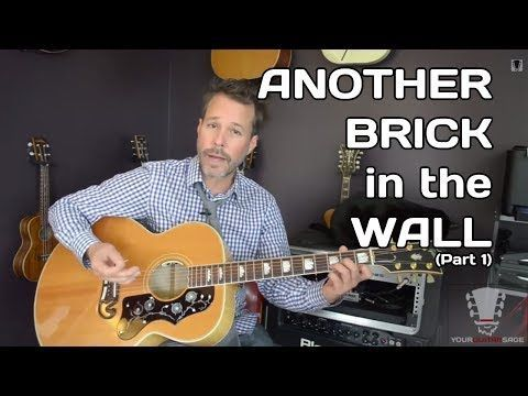Another Brick In The Wall By Pink Floyd Part 1 Guitar Lesson With