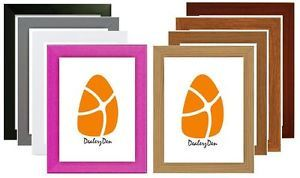 WOOD-WOODEN-MODERN-PICTURE-PHOTO-FRAME-9-VARIOUS-COLOURS-SIZES-Stand-Wall-Hang
