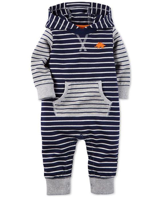 Carter's Baby Boys' Navy Stripe Jumpsuit