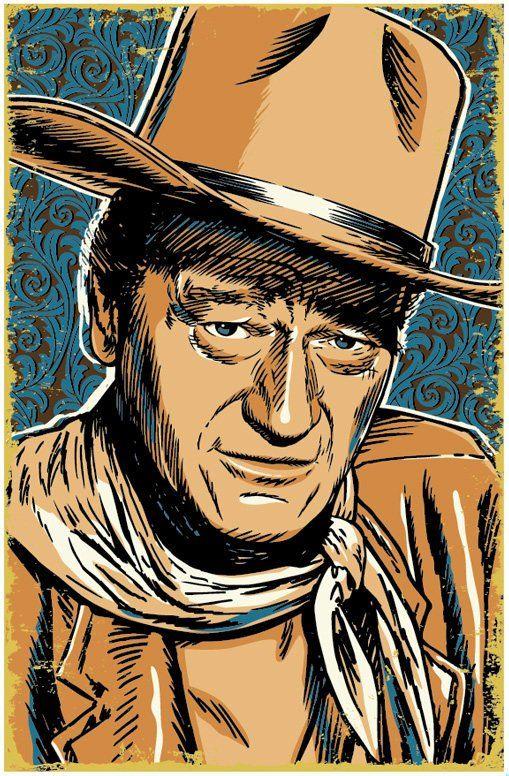 John Wayne 13 X 19 John Wayne Poster John Wayne Wall Art Pop Art Print Cowboy Art John Wayne