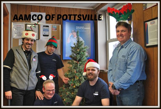 """Enter to WIN AAMCO of Pottsville's """"12 Days of Christmas Give Away"""". Just """" LIKE"""" AAMCO on Facebook.com/aamcopottsville or go to our website at www.aamcopottsvillepa.com, click n the RED  CONTACT US box, and leave either a phone number or email address for a chance to WIN automotive products and gift certificates. Prizes will be awarded daily from Dec. 12 through Dec. 23. No purchase necessary. HAPPY HOLIDAYS!"""
