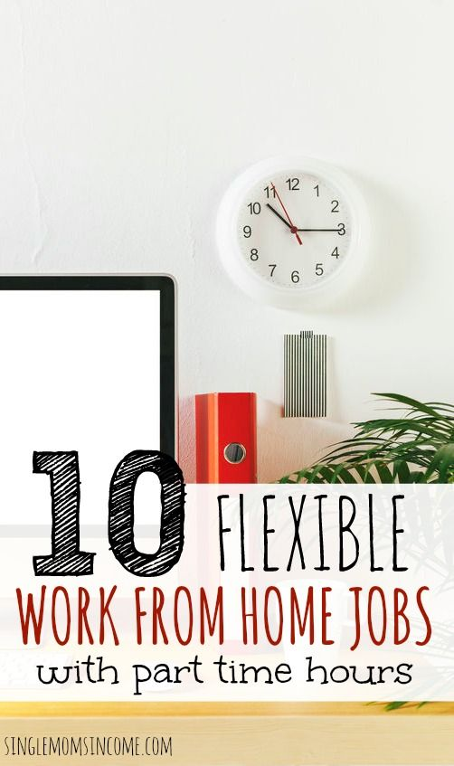 10 Flexible Part Time Work From Home Jobs Work From Home Jobs