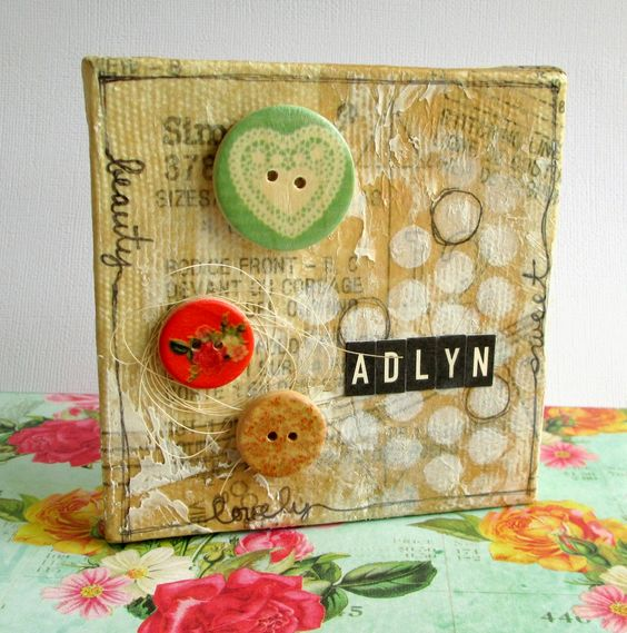 Precocious Paper: Altered Art for Adlyn's Nursery - Mini Canvas