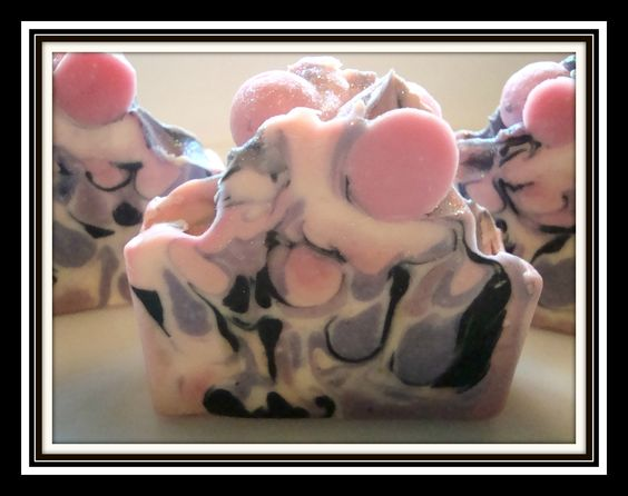 Vanilla Black Raspberry Cold Process soaps handcrafted by D'Lish Soaps    https://www.facebook.com/DLishSoaps