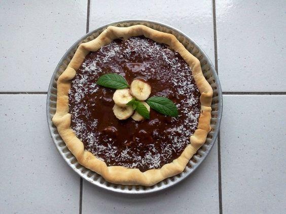 Tarte chocolat-banane-noix de coco