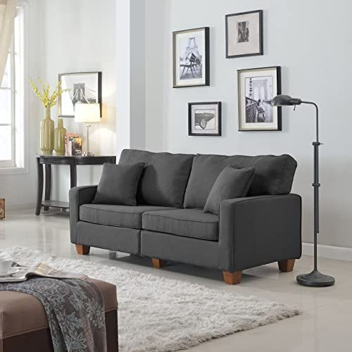 Amazing Offer On Divano Roma Furniture Classic 73 Inch Love Seat Living Room Linen Fabric Sofa Dark Grey Online Wouldtopshopping In 2020 Love Seat Fabric Sofa Living Room Sofa