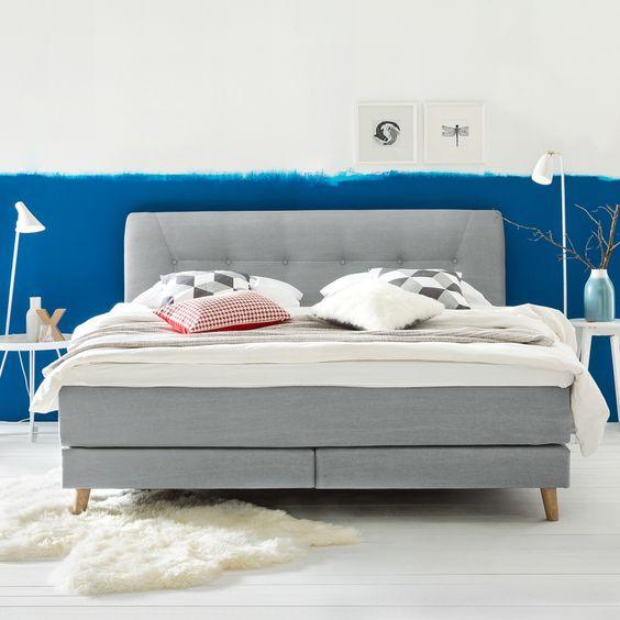 Boxspringbett VITU, Box Bonellfederkern, Matratze - luxurioses bett design hastens guten schlaf