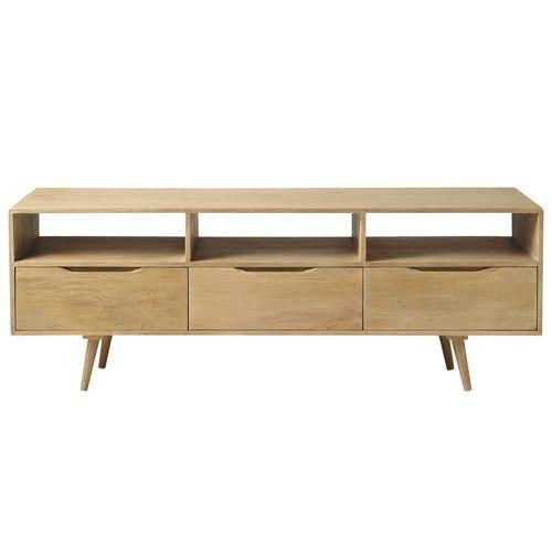 tv m bel im vintage stil aus mangoholz b 165 cm home. Black Bedroom Furniture Sets. Home Design Ideas