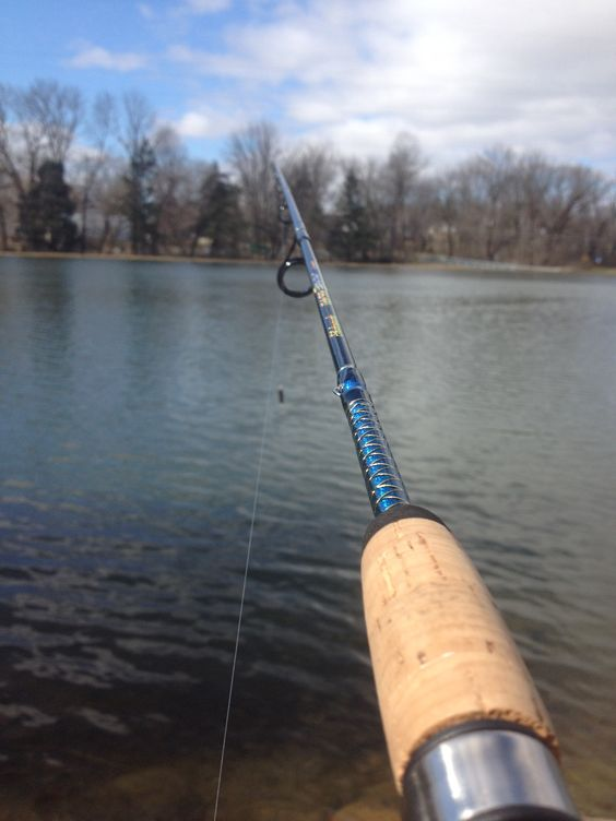 Nice day at pond with ugly stick