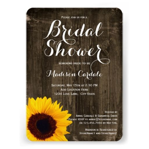 rustic wood sunflower bridal shower invitations rustic country wedding invitations pinterest rustic wood bridal and bridal shower