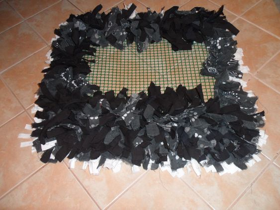 55. Fürdőszoba szőnyeg készítése rongyokból házilag. - Gyöngyszem napközi