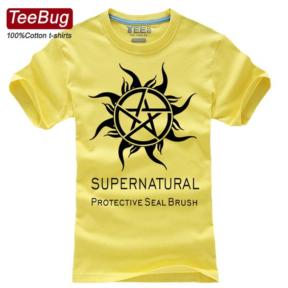 Teebug sitcoms circumjacent t-shirt devil t-shirt male short-sleeve 100% cotton t  Supernatural cheap fashion origin $23.70