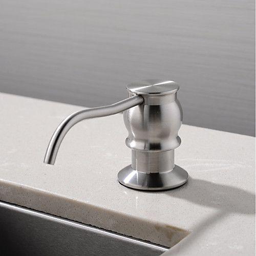 Contemporary Nickel Brush Brass Soap Dispenser For Kitchen Sink Kitchen Soap Dispenser Kitchen Soap Soap Dispensers