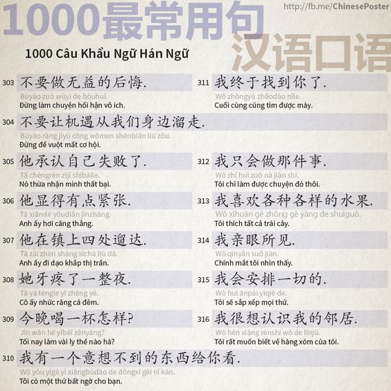 1000 Câu Khẩu Ngữ - Phần 20: