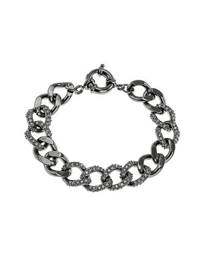 CZ by Kenneth Jay Lane Plated 8.00 cttw. Link Bracelet