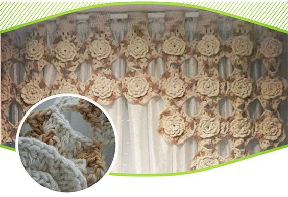 cortina-milano cortina de flores de crochet