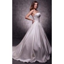 Strapless Sweep/Brush Train Trumpet/Mermaid Wedding Dresses With Sashes Buttons - $158.99