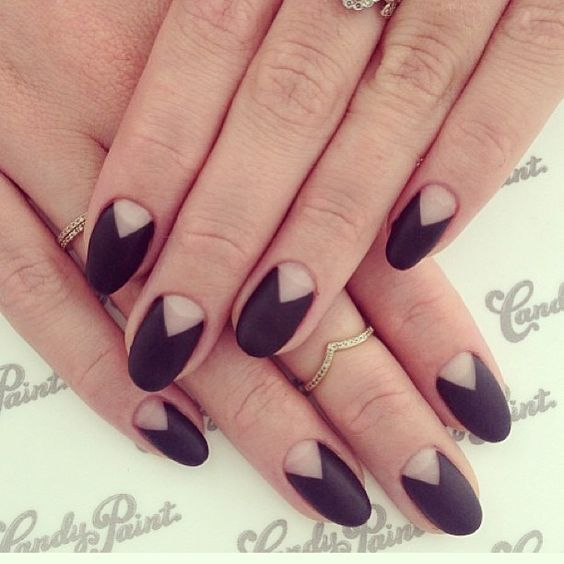 black matte mani