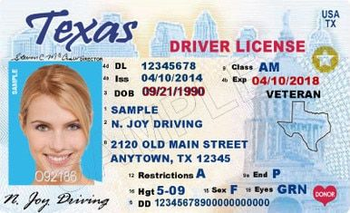 Texas Driver S License Enhanced Novelty With Images Drivers