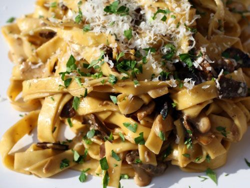 Tagliatelle with Porcini Mushrooms and Crème Fraîche