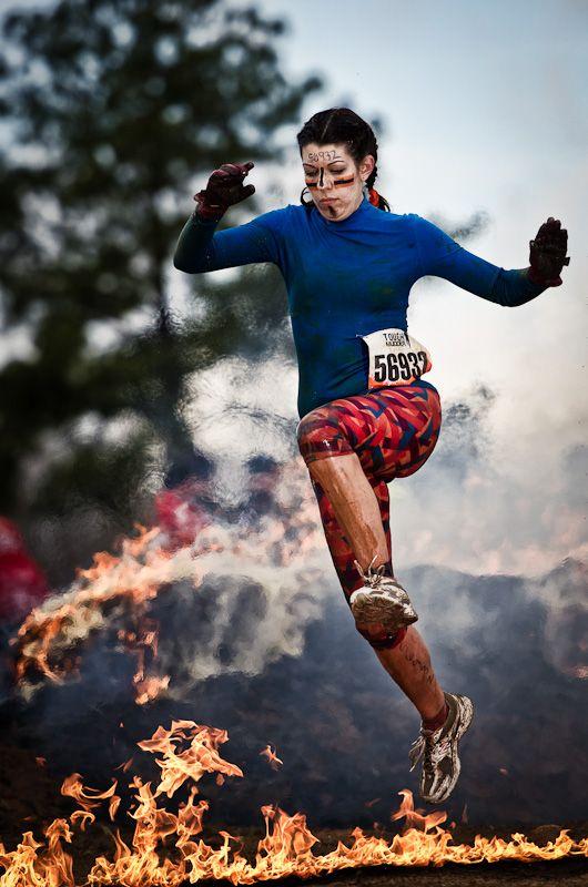 Tough Mudder Georgia 2012. Hope I'm that calm jumping over flames lol