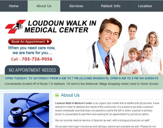 Health care and other emergency services offered by Loudoun Walkin Medical Center.#HealthCenterLoudoun #UrgentCareLoudoun #HealthClinicLoudoun #DoctorsLoudoun