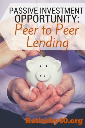 Passive Income from Peer to Peer lending