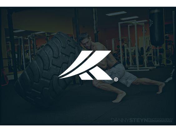 Abstract K Fitness Logo Mark by Farooq Shafi
