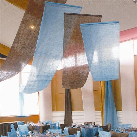 Tela deco techos paredes azul bautizo pinterest - Telas para techos ...