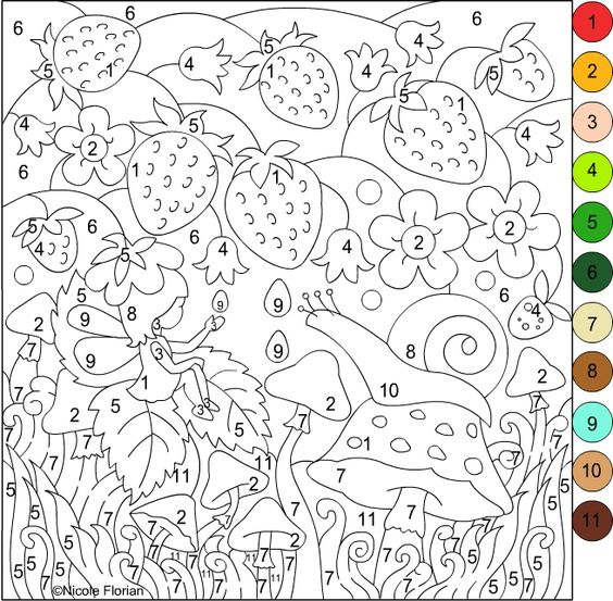 free printable paint by number coloring pages - nicole 39 s free coloring pages coloring 7 pinterest
