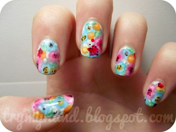 Watercolor florals.