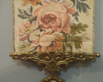 Vintage Roses Tapestry Bell Pull Shabby Chic Wall
