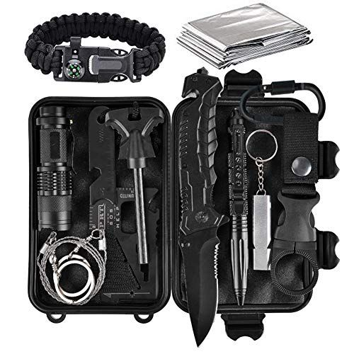 Camping Survival Multifunction Card Wilderness Survival Gear Kit Hunting Too US