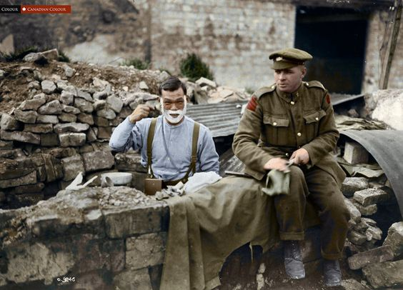 Canadian Colour: WW1, Japanese-Canadian soldier, Arras, Sept 1918. B/W from…