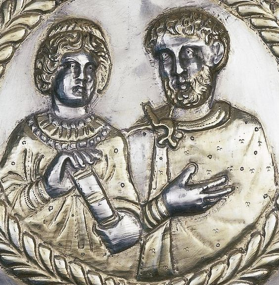 Projecta casket, detail of secundus, 4thc AD, part of the Esquiline Treasure, British Museum