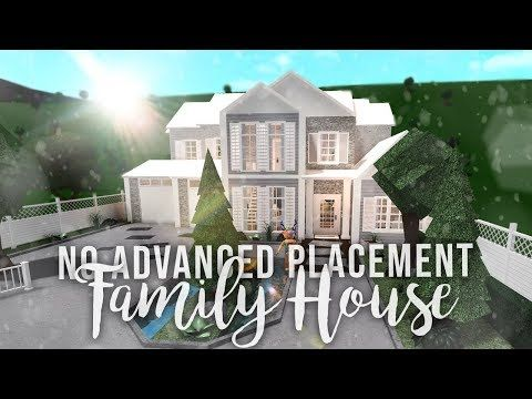 Roblox Bloxburg No Advanced Placement Family House House Build Youtube Building A House Family House Family House Plans