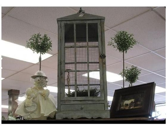 "HUGE French Chic Shabby Vtg Style Decor 38"" Bird Cage Distressed Finish Wedding #UNBRANDED"