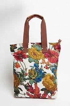 Bolso cuadrado de flores