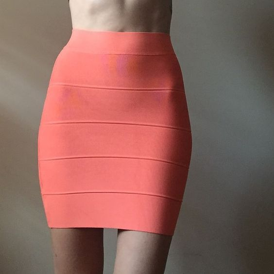 BCBG bodycon tangerine skirt Gorgeous tangerine color! Super tight, bodycon style skirt. Size XXS. Perfect for spring and summer! By BCBG. BCBG Skirts