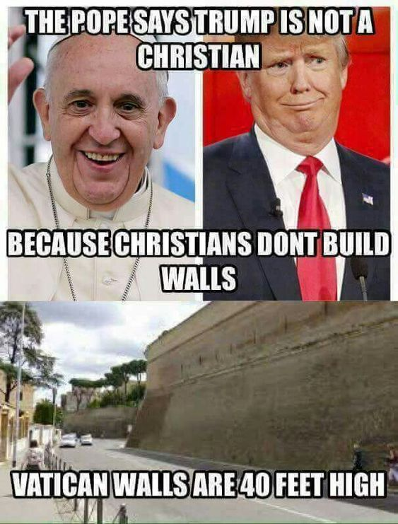 The Vatican is not closed off. You can walk right in. There are walls but this doesn't go all the way.