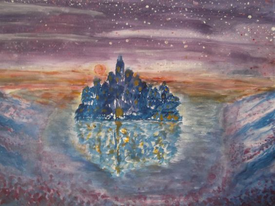 """The Heavenly Asylum"" Painted By Fadi Abu-Deeb"