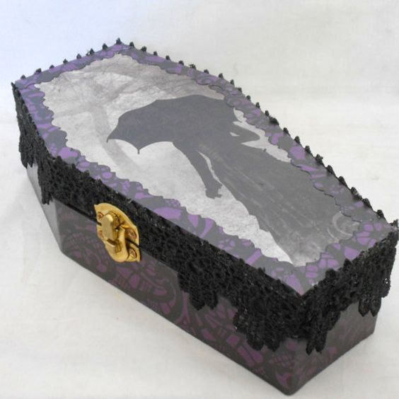 Victorian Gothic Coffin Box by NacreousAlchemy