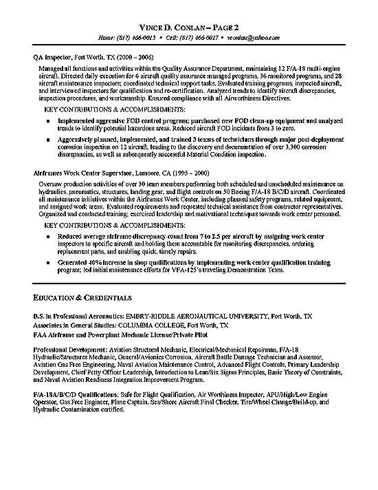 Aviation Resume Example Resume Examples Resume Template Examples Sample Resume