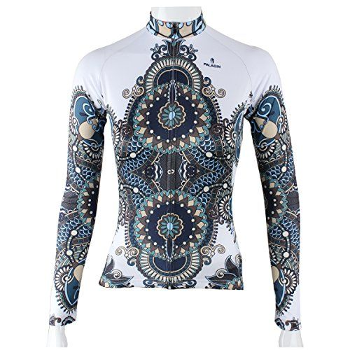 Paladin Cycling Jersey Long Sleeve Women Armor Pattern Bike Shirts Size M White ** Learn more by visiting the image link.
